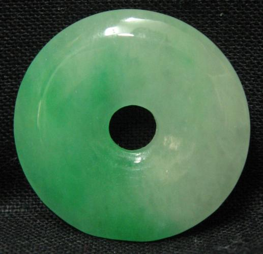 Light green chinese circle jade pendant mozeypictures