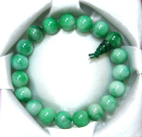 Light Green Jade Bead Bracelet