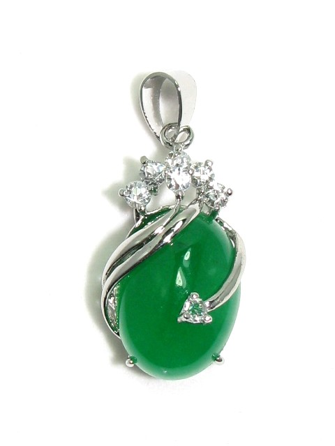 Unique And Stylish Chinese Green Jade Pendant