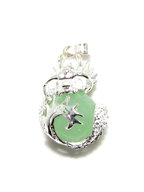 Chinese silver jade dragon pendant aloadofball Images