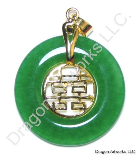 Chinese jade double happiness pendant of luck aloadofball Images