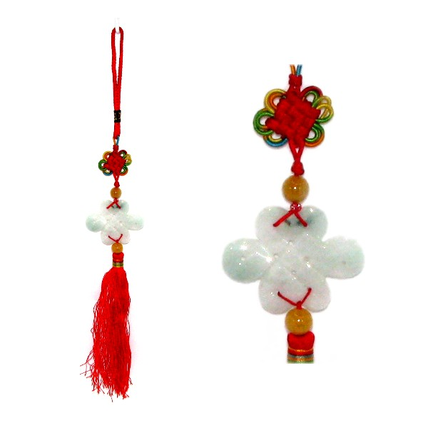 Chinese Eternity Knot Jade Good Luck Charm