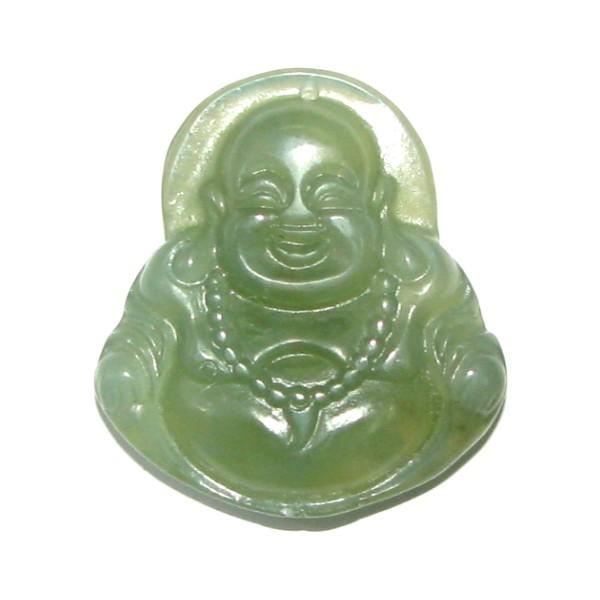 Chinese green jade laughing buddha pendant aloadofball Images