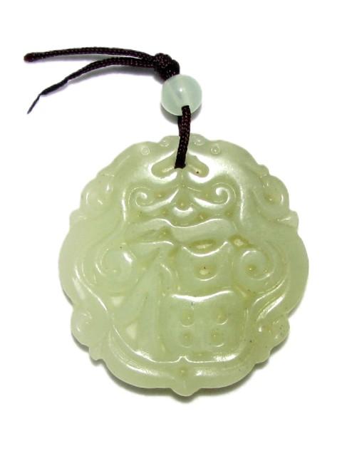 Exquisite Chinese Jade Pendant Of Good Fortune Symbol