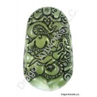 Green jade tiger tooth pendant chinese green jade dragon pendant mozeypictures Images